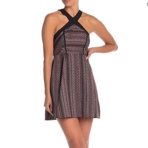 BCBGeneration Dress Size 12 Geo Print Halter Neck